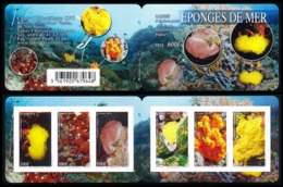 POLYNESIE 2015 - Yv. 1095 à 1100 = Carnet C1095 **  - Faune Marine. Eponges (6 Val.)  ..Réf.POL24989 - Polynésie Française