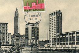 1958 Le Havre - Cartoline Maximum