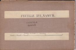 Carte Sur Toile De Namur Feuille XVI - Topographical Maps