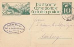 Carte Postale - Entier Postal De Oskar Ulrich,  Oblitérée Messen, Le 8.XI.1924, à Dest. De Aarberg - Illust. Reichenbach - Entiers Postaux