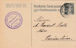 Carte Postale - Entier Postal La Neuchâteloise, De G.Cortaillod, Manufacture De Cravates, Oblitéré Le 6.XII.1918 - Entiers Postaux