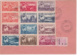 # Z.10810 Royalty, Romania 1947 Dec. 30 The Last Day Of Mihai I. As King Of Romania, Compliance Cover With Full Set - 1918-1948 Ferdinand, Charles II & Michael