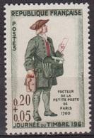 Journée Du Timbre - FRANCE - Facteur De La Petite Poste, Paris 1760 - N° 1285 ** - 1961 - Nuovi