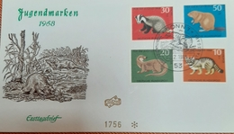 Germany BRD FDC 1968  Seltene Tiere - FDC: Sobres