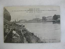Bords De Seine - Vue Prise Du Pont De BILLANCOURT Sur L'Ile Saint Germain Et Les Magasins Militaires (animée) - Boulogne Billancourt