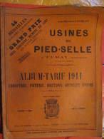 CATALOGUE - USINES DU PIED SELLE à FUMAY - ALBUM TARIF 1911 - CHAUFFAGE - POTERIE - BOUTONS - ARTICLES DIVERS - France