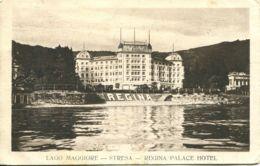 N°76995 -cpa Lago Maggiore -Stresa- Regina Palace Hotel- - Altre Città