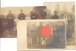Lot De 3 Photos Carte D'une Famille (de Liège Ou Environs) DEMARLE ( Sous Réserve ) - Guerre 14/18 ??? (b269) - Cartes Postales