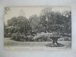 BOULOGNE SUR SEINE - Le Parc De La Maire (avec Kiosque) - Boulogne Billancourt