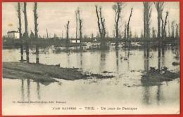 01- L'Ain Ilustré- THIL -un Jour De Panique-cpa Voyagée 1915-scans Recto Verso -Paypal Sans Frais - Sonstige Gemeinden
