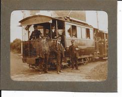 """Tram Electrique """"A. 9/63"""" - Ligne1: Pepinster-Verviers - Photo Collée Sur Carton - Format: 13/10cm - 2 Scans. - Tramways"""