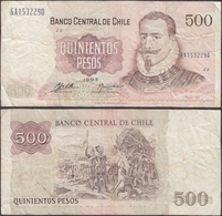 CHILE - 500 Pesos 1993 P# 153d America Banknote - Edelweiss Coins - Chili