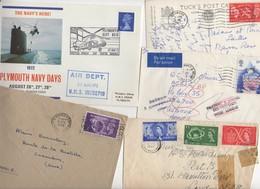 10 Lettres Et Cartes + 1 Cadeau Prix De Départ Sans Réserve 1€ Voir 2 Scan.  Bonnes Enchère Lot Delc Grande Bretagne, 2° - Marcophilie