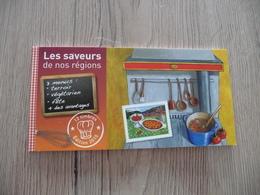 Carnet Saveurs N°1 Gastronomie Olitérés Dans Sa Période 12 TP Auto Adhésifs - Definitives