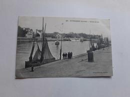 44  Le Pouliguen Entrée Du Port Timbre Taxe 2 Scans 1908 Pêche - Le Pouliguen