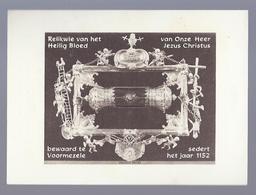 Santini Image Pieuse Holy Card RELIKWIE VAN HET HEILIG BLOED VAN O.H. JEZUS CHRISTUS BEWAARD TE VOORMEZELE - Santini