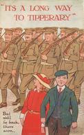 """GUERRE 1914-18 - Militaires Anglais, """"its A Lng Way To Tipperary (carte Illustrée Par Taylor). - Patriotiques"""