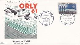 N°1283 De 1961 -  FDC  -   Aéroport De Paris-Orly - 1960-1969