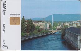 SUISSE - PHONE CARD - TAXCARD-PRIVÉE - CHIP *** CANTON DE GENÈVE *** - Schweiz