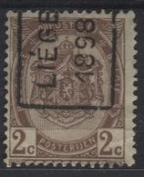 PREOS Roulette - LIEGE 1898 (position A). Cat 178 Cote 250. Infime Aminci De Coin - Roller Precancels 1894-99
