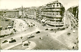 Postal Marseille. Rue De La Republique Et Quai Du Port. Ref. 7-fra270 - Francia