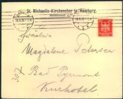 """1925, Fernbrief Absender """"St. Michaelis-Kirchenchor In Hambur"""" - Musik"""