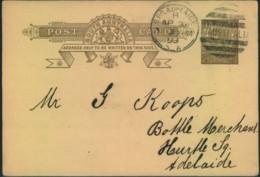 "1893, 1 Penny Stationery Card With Private Imprint ""South Australian Bottle Merchants"" - Non Classés"