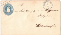 1861, 1 Groschen Gazsachenumschlag Ab OLDENBURG (blau) Nach Wildeshausen - U 1 - Oldenburg