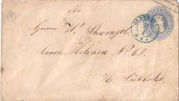 1863, 2 Groschen Ganzchenumschlag Ab OLDENBURG, Klappe Hinterlegt - U 11 (300,-) - Oldenburg