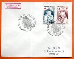 06 CAGNES SUR MER EXPO. A. RENOIR 1965 Lettre Entière N° AB 2 - Marcophilie (Lettres)