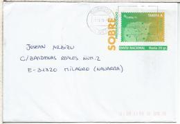 BILBAO ENTERO POSTAL TOMPLA 2015 CIRCULADO - Enteros Postales
