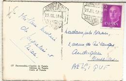 TO FUENTERRABIA CON MAT HEXAGONAL CORREO AEREO SANTANDER CANTABRIA - Aéreo