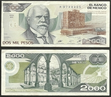 MEXICO - 2000 Pesos 1984 P# 82c America Banknote - Edelweiss Coins - Mexiko