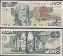 MEXICO - 2000 Pesos 1987 P# 86b America Banknote - Edelweiss Coins - Mexiko