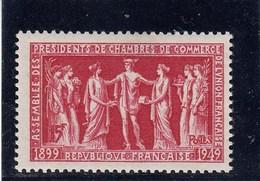 France - 1949 - N° YT 849** - Assemblée Des Présidents De Chambres De Commerce De Union Française - France