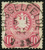 DT.REICH 1884, Nr. 41, STPL-K1 HASSELFELDE IDEAL ABGESCHLAGEN, STEMPELLOS! - Gebraucht