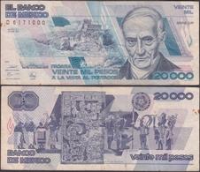 MEXICO - 20.000 Pesos 1989 P# 92b America Banknote - Edelweiss Coins - Mexiko