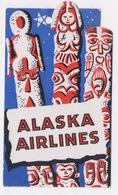 ALASKA AIRLINES COAT AND PARCEL TAG - Billets D'embarquement D'avion