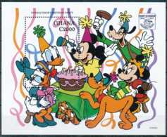 NB - [91542]SUP//-GHANA - Walt Disney - Mickey, Minnie, Pluto, Daisy Pour L'anniversaire De Donald, B.D - Disney