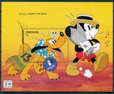NB - [91587]SUP//-GRENADA - Walt Disney - Année Du Chien Mickey Et Pluto, Siffle, B.D, Le Bloc De 6$ - Disney