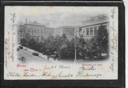 AK 0373  Wien - Börseplatz Mit Park / Verlag Popper Um 1898 - Wien Mitte