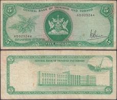 TRINIDAD & TOBAGO - 5 Dollars L. 1964 (1977) P# 31a Banknote - Edelweiss Coins - Trinidad & Tobago