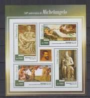 B712. S.Tome E Principe - MNH - 2015 - Art - Painting - Michelangelo - Art