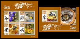 SIERRA LEONE 2019 - Bees. M/S + S/S Official Issue [SRL191003] - Sierra Leone (1961-...)