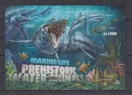 F712. Sierra Leone - MNH - 2016 - Nature - Marine Life - Dinosaurs - Bl - Plants