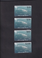 DIEGO GRCIA , DGA-R-05a,6a,7a,8a .  AERIAL VIEW SET , 750 MICRONS , MINT ,  CN.# DG08-00032 - Diego-Garcia
