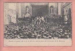 OLD POSTCARD - ITALY - ITALIA -  ALCAMO - FESTA - ANIMATED  1916 - Trapani