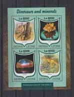 R316. Sierra Leone - MNH - 2016 - Fauna - Animals - Dinosaurs - Minerals - Planten
