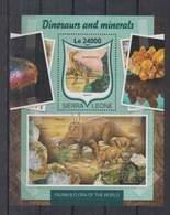 R316. Sierra Leone - MNH - 2016 - Fauna - Animals - Dinosaurs - Minerals - Bl - Planten