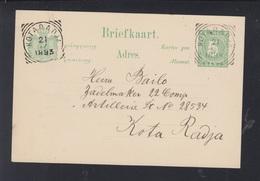 Postkaart 1893 Kotaradja - Niederländisch-Indien